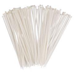 Kabelbinder mit Kunststoffzunge  - Farbe, weiß Abmessungen:  200 x 4,8 mm
