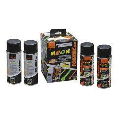 FOLIATEC  Sprüh Folie NEON 4er Set,  4 x 400 ml neon grün