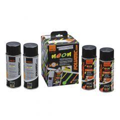 FOLIATEC  Sprüh Folie NEON 4er Set,  4 x 400 ml neon orange