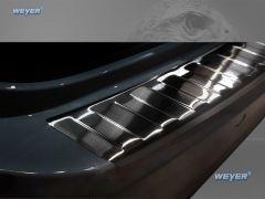 BMW Serie 3 G21 Touring mit M-Paket ab Baujahr 2018-, WEYER Edelstahl Ladekantenschutz- graphite-blackline