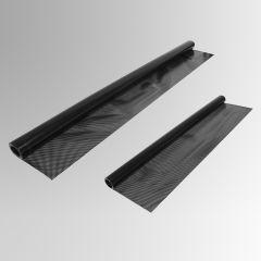 Folie Shadow Line, selbsthaftend - schwarz - 5% gelocht 2 er Pack