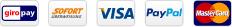 giropay Sofortüberweisung VISA PayPal MasterCard